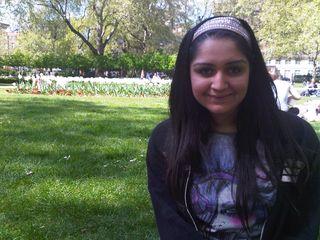 Sehr Sarwar in the park