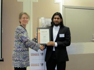 Tariq Chowdhry accepts First Prize Award